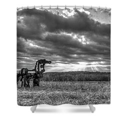 Visible Lights The Iron Horse Sunrise Art Shower Curtain