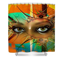 Shower Curtain featuring the digital art Vision by Shadowlea Is