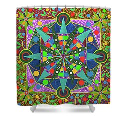 Vision - The Dna Of Plants Shower Curtain