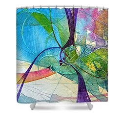 Visions In Motion Shower Curtain