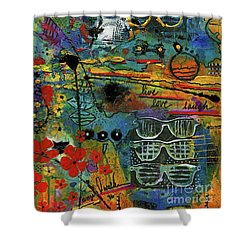 Visions Of A Good Life Shower Curtain by Angela L Walker