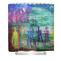 Visions Of Future Beings Shower Curtain