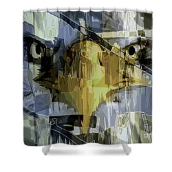 Visions Of Gold Shower Curtain