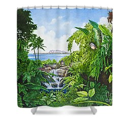 Visions Of Paradise Ix Shower Curtain