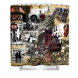 Visions Of Paris Shower Curtain by John Rizzuto