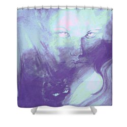 Shower Curtain featuring the painting Visions Of The Night by Denise Fulmer