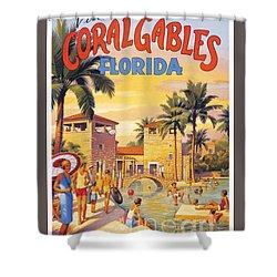 Visit Coral Gables-florida Shower Curtain