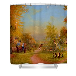 Visit From An Old Friend Shower Curtain
