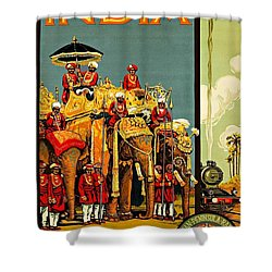Visit India The Great Indian Peninsula Railway II 1920s A R Acott Shower Curtain