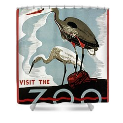 Visit The Zoo Egrets  Shower Curtain by Unknow
