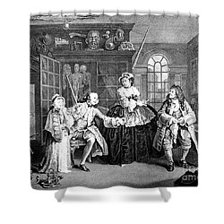 Visit To The Quack Doctor, 1745 Shower Curtain by Science Source