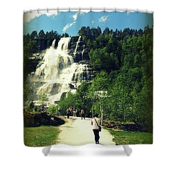 Visit To Tvindefossen Falls Shower Curtain