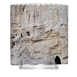 Visiting Cave Houses In Navarra Last Shower Curtain