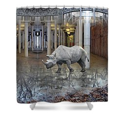 Visiting Shower Curtain