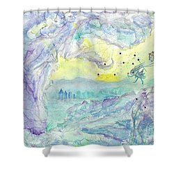 Visitors Shower Curtain by Veronica Rickard