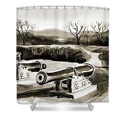 Visitors Welcome Bw Shower Curtain by Kip DeVore