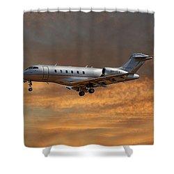 Vista Jet Bombardier Challenger 300 3 Shower Curtain
