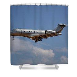 Vista Jet Bombardier Challenger 300 4 Shower Curtain