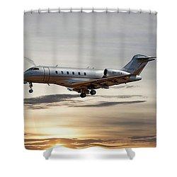 Vista Jet Bombardier Challenger 300 Shower Curtain
