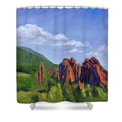 Vista Of The Gods Shower Curtain