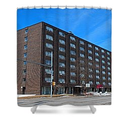 Shower Curtain featuring the photograph Vistula Manor by Michiale Schneider