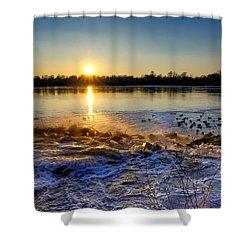 Vistula River Sunset 3 Shower Curtain