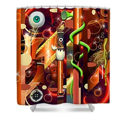 Visual Jazz Shower Curtain