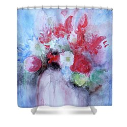 Shower Curtain featuring the painting Vitality Still Life by Jasna Dragun