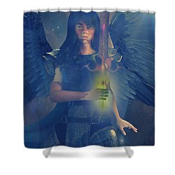 Vitiligo Angel Shower Curtain by Suzanne Silvir