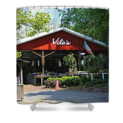 Vito's Farm Stand Shower Curtain