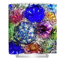 Vitreous Flora Shower Curtain by Gary Holmes