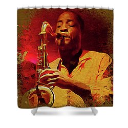 Viva Hot Jazz Shower Curtain