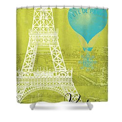 Viva La Paris Shower Curtain by Mindy Sommers