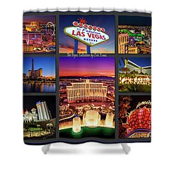 Viva Las Vegas Collection Shower Curtain