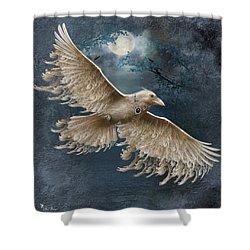 Viva The White Raven  Shower Curtain