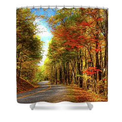 Vivid Autumn In The Blue Ridge Mountains Ap Shower Curtain by Dan Carmichael
