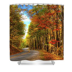 Vivid Autumn In The Blue Ridge Mountains Shower Curtain