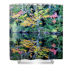 Vivid Fall Reflection Shower Curtain