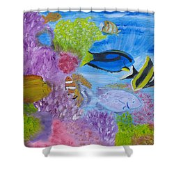 Corals Calling  Shower Curtain