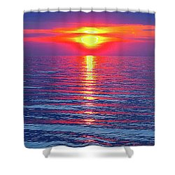 Vivid Sunset - Vertical Format Shower Curtain