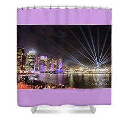 Shower Curtain featuring the photograph Vivid Sydney Skyline By Kaye Menner by Kaye Menner