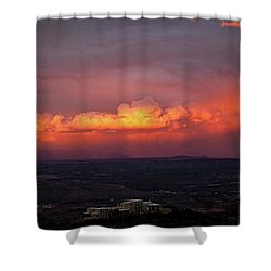 Shower Curtain featuring the photograph Vivid Verde Valley Sunset by Ron Chilston