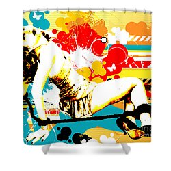 Vixen Subdued Shower Curtain by Chris Andruskiewicz