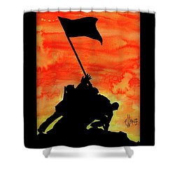 Vj Day Shower Curtain by P J Lewis