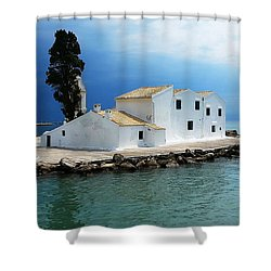 Vlachurna Monastry Shower Curtain