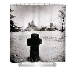 Vlad Draculas Palace Shower Curtain by Simon Marsden