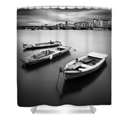 Vltava River During Autumn Time, Prague, Czech Republic Shower Curtain