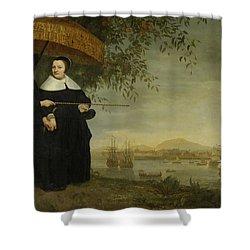 Voc Senior Merchant Shower Curtain by Aelbert Cuyp