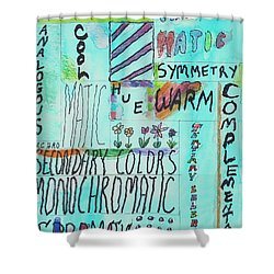 Vocabulary Shower Curtain