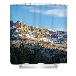 Volcanic Cliffs Of Wolf Creek Pass Shower Curtain